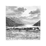 Encampment of the English Expedition of 1871, Lake Pang-Kong, Tibet, 1895 Giclee Print