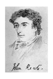 John Keats, English Poet Giclee Print by William Hilton