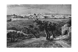 Jerusalem, from the Mount of Olives, 1902 Giclée-tryk