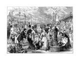New Flower Market, Paris, 1874 Giclee Print