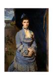 Portrait of Grand Duchess Maria Fyodorovna, Princess Dagmar of Denmark, (1847-192), 1874 Giclee Print by Heinrich von Angeli