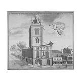 Church of St Botolph, Aldgate, City of London, 1750 Giclee Print