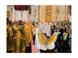 The Wedding of Tsar Nicholas II and the Princess Alix of Hesse-Darmstadt on November 26, 1894 Giclee Print by Laurits Regner Tuxen