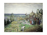 The Founding of the Moscow Kremlin, 1156, 1917 Giclee Print by Appolinari Mikhaylovich Vasnetsov