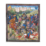 Battle Between Crusaders under Baldwin II of Jerusalem and the Saracens Giclee Print