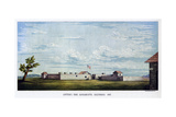 Sutter's Fort, Sacramento, California, 1847 Giclee Print by  Snyder