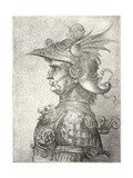 A Bust of a Warrior in Profile, 1882 Giclee Print by  Leonardo da Vinci