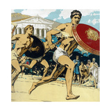 Ancient Olympic Games: the Relay Race, 1922 Giclee Print
