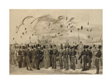 Grand Duke Mikhail Pavlovich Visiting the Camp of the Life-Guard Finland Regiment on July 8, 1837 Giclee Print by Pavel Andreyevich Fedotov