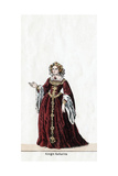 Queen Katharine, Costume Design for Shakespeare's Play, Henry VIII, 19th Century Giclee Print