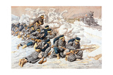 Japanese Firing on Russian Red Cross Train, Russo-Japanese War, 1904 Giclee Print