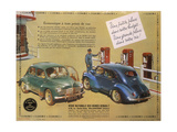 Poster Advertising a Renault 4Cv, 1949 Giclee Print