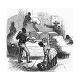 Slave Labour on a Cotton Plantation in the Southern States of America, 1860 Giclee Print
