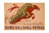 Poster Advertising Shell Oil and Petrol Giclee Print