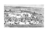 Tower of London, C1543 Giclee Print by Anthonis van den Wyngaerde