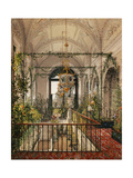 Interiors of the Winter Palace, the Small Winter Garden in the Apartments of Alexandra Fyodorovna Giclee Print by Konstantin Andreyevich Ukhtomsky