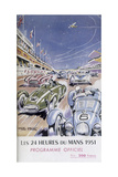 Programme for Le Mans 24 Hours, 1951 Giclee Print