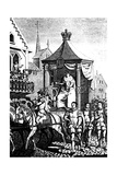 Elizabeth I on Her Way to Open the First Royal Exchange, London, 23 January 1571 (C168) Giclee Print