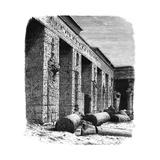 The Ruins of the Palace of Rameses III, Medinet Habu, Upper Egypt, C1890 Giclee Print