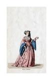 Anne Boleyn, Costume Design for Shakespeare's Play, Henry VIII, 19th Century Giclee Print