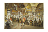 Ceremonial Dinner in the Palace of the Facets in the Moscow Kremlin, 1883-1895 Giclee Print by Mihaly Zichy
