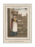 Strawberries, Cries of London, 1804 Giclee Print by William Marshall Craig