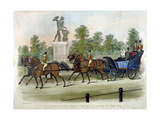 Queen Victoria and Prince Albert Taking Air in Hyde Park, London, C1840 Giclee Print by James Pollard