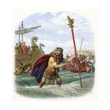Roman Invasion of Britain, 1st Century BC Giclee Print
