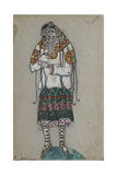 The Girl. Costume Design for the Ballet the Rite of Spring (Le Sacre Du Printemp), 1912 Giclée-Druck von Nicholas Roerich