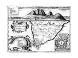 A Map of the Cape of Good Hope, South Africa, 1719 Giclee Print
