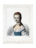 Louise Marie Adelaide De Bourbon-Penthievre, Duchesse D'Orleans, Late 18th Century Giclee Print by  Weber