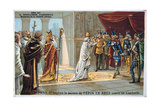 Pope Stephen II Pleads for the Safety of Pepin the Short from the Lombards, C750 AD Giclee Print