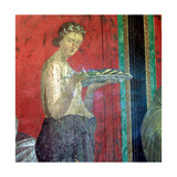 Fresco Detail, Initiate Making an Offering, 1st Century BC Giclee Print