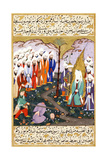 Ali Beheading Nadr Ibn Al-Harith in the Presence of the Prophet Muhammad, Ca 1594 Giclee Print