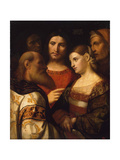 Christ and the Woman Taken in Adultery, 1510 Giclee Print by Jacopo Palma Il Vecchio the Elder