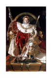Napoleon on His Imperial Throne, 1804 Giclee Print