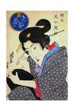 Contest of Beauties: a Geisha from the Eastern Capital, C1830 Giclee Print by Keisai Eisen