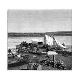 A Ferry on the Vaal River, Transvaal, South Africa, C1890 Giclee Print