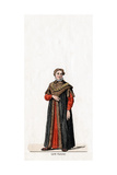 Lord Chancellor, Costume Design for Shakespeare's Play, Henry VIII, 19th Century Giclee Print