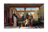 Theatrical Rehearsal in the House of an Ancient Rome Poet, 1855 Giclee Print by Gustave Clarence Rodolphe Boulanger