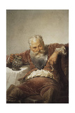 Falstaff with a Tankard of Wine and a Pipe, 1873 Giclee Print by Mihaly Zichy