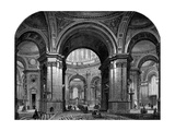 Interior of St Paul's Cathedral, London, Second Design, 17th Century Giclee Print by Christopher Wren