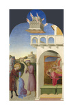 Saint Francis and the Poor Knight, and Francis's Vision, 1437-1444 Giclée-tryk af Sassetta,