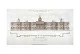 National Gallery, Trafalgar Square, Westminster, London, C1838 Giclee Print
