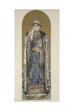 Saint Olga, Princess of Kiev (Study for Frescos in the St Vladimir's Cathedral of Kie), 1884-1889 Giclee Print by Viktor Mikhaylovich Vasnetsov