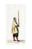 Holder of a Sword, Costume Design for Shakespeare's Play, Henry VIII, 19th Century Giclee Print