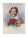 Portrait of the Poet Prince Pyotr A. Vyazemsky (1792-187), 1830s Giclee Print by Pyotr Fyodorovich Sokolov