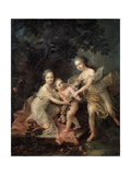 Children of Louis Philippe, Duc D'Orléans, 18th Century Giclee Print by Francois-Hubert Drouais
