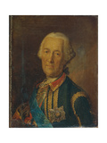 Portrait of the Field Marshal and Politician Count Burkhard Christoph Von Munnich (1683-176), 1764 Giclee Print by Heinrich Buchholz