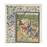 Fight in a Wood Between Christians and Saracens, 1460S Giclee Print